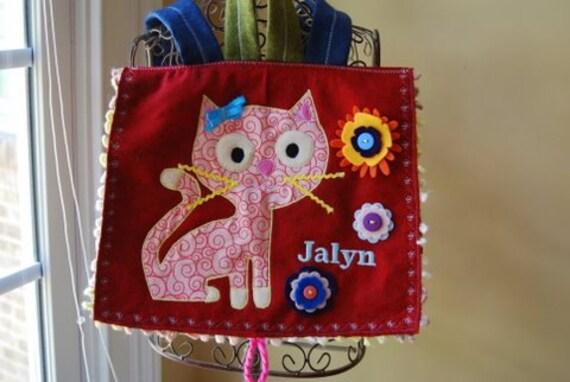 Busy Little Swirly Kitty Backpack