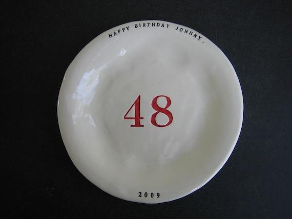 CUSTOM BIRTHDAY or ANNIVERSARY cake plate.