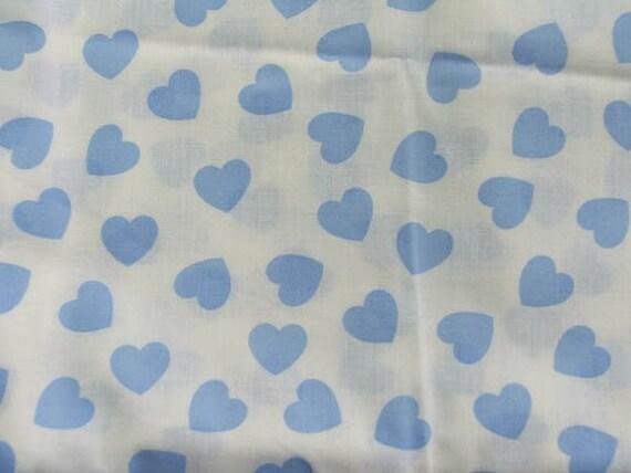 Blue Hearts Cotton Fabric