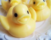 Banana Rubber Ducky Soap - Ribber Duck, Banana Scented, Bath Time, Baby Shower, Party Favors, Animal Soap, Kids Soap, Gift, Yellow