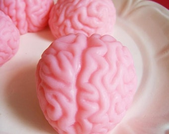 Brain Soap Strawberry Set - Gag Gift, Prank Soap, Doctor Gift, Surgeon, Zombie Soap, Spooky, Goth, Soap Favors, Nurse Gift, The Walking Dead