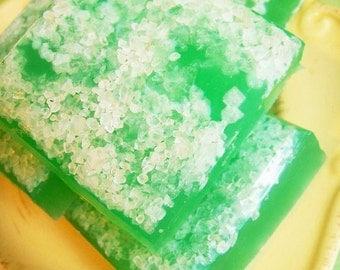 Salt Scrub Soap Bar Margarita Lime - Beach Soap, Exfoliating Soap, Summer Soap, Ocean Soap, Teen Gift, Gift For Her, Gift For Him, Fruit