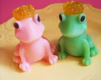 Frog Soap Price and Princess Set - Soap Favors, Kids Soap, Cucumber Melon Soap, Animal Soap, Kids Bath, Soap Favor, Wedding Favors, Queen
