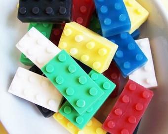 Building Block Soap Set - Watermelon Scent, Boys Soap, Kids Soap, Novelty Bath, Party Favors, Colorful Soaps, Birthday Party, Fun Soap