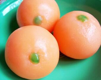 Fruit Orange Soap - Orange Scented, Fruit Soap, Vegan Soap, Soap Food, Fake Food Soap, Soap Favors, Novelty Bath, Wedding Favor, Cirtus Soap
