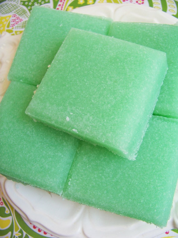 Solid Sugar Scrub Soap Mint Bar - Soap Scrub, Exfoliating Soap, Gift For Her, Gift For Him, Novelty Soap, Hostess Gift, Refreshing Soap