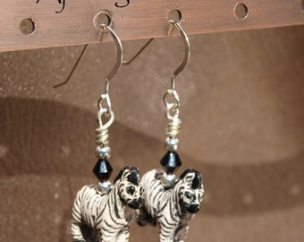 Zebra Earrings 10040