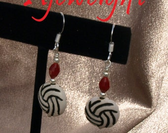 Volleyball Earrings 11008