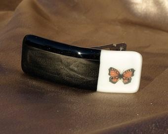 Striking Butterfly Fused Glass Barrette (83157F)