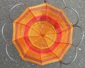 Steel frame fruit basket -- custom copper wire lining