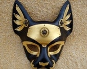 Industrial Bast V2 ... original mixed media handmade steampunk egyptian cat mask