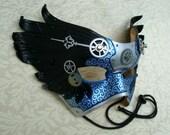 Il Tempo Vola V6... original mixed media handmade winged Venetian clockwork mask