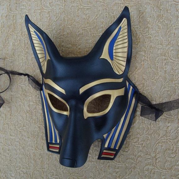 Egyptian Jackal Mask Anubis ...handmade leather mask