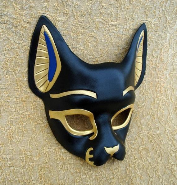 Egyptian Bast Cat Mask... handmade original leather mask