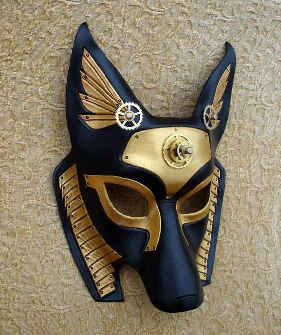 Industrial Anubis V9 ... original mixed media handmade steampunk egyptian jackal mask