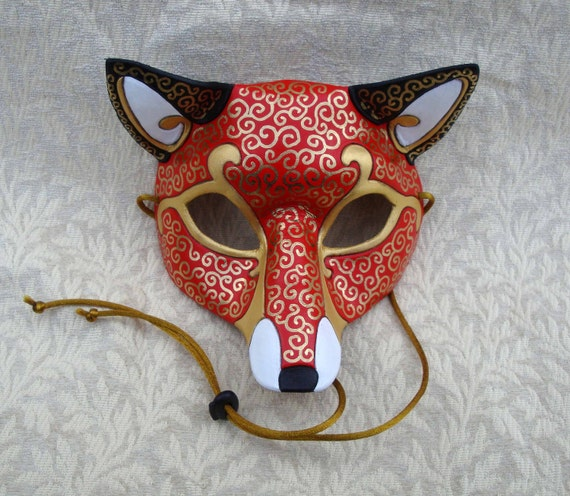 Venetian Fox Mask Handmade Leather Mask