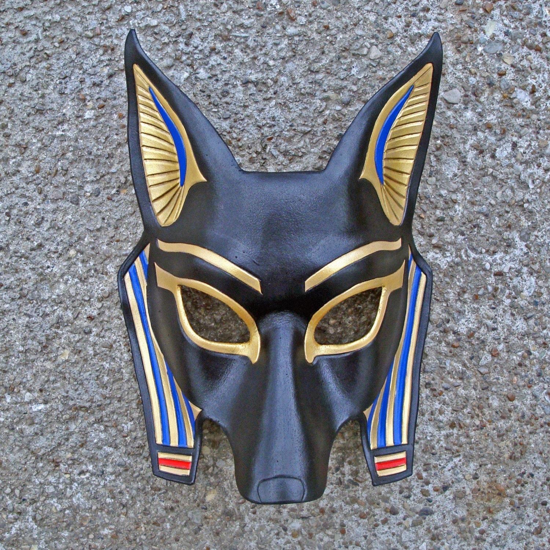 egyptian jackal mask anubishandmade leather mask