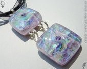 Duplicity - Dual Dichroic Glass Pendant with necklace