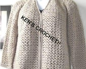 V-Stitch V-Neck Cardigan-PDF Pattern Only