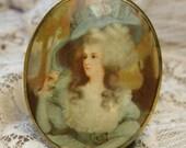 Vintage Marie Antoinette Portrait Pin