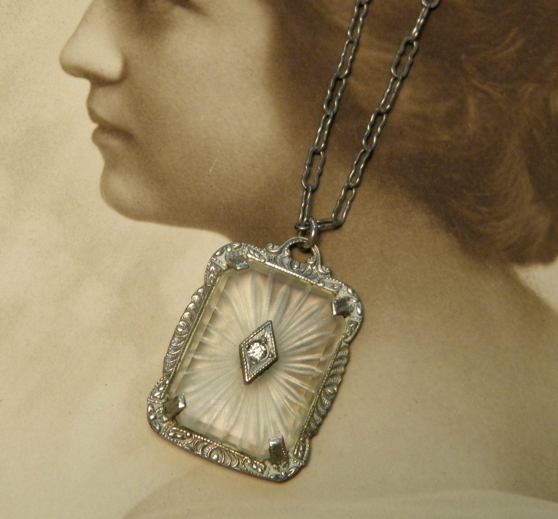 Camphor Glass Vintage Pendant Charm