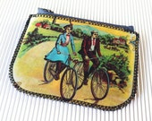 Bike Love and an Acrobat Zippered Coin Pouch