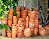 Gardening Pots- Fine Art Photographic Print - 8x10