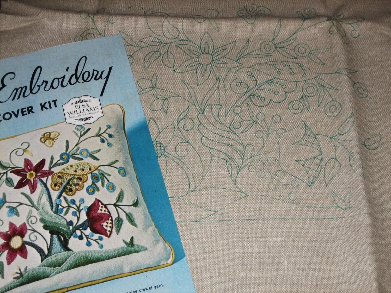 Vintage elsa williams crewel embroidery kit tree of life