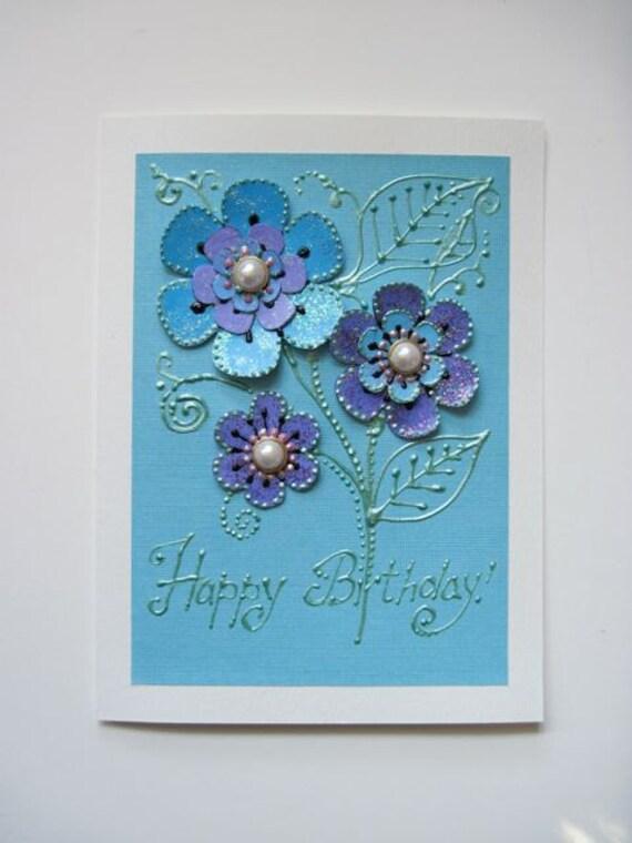 "Original handmade Birthday card 6""x8"""