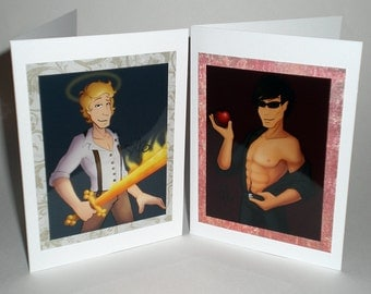 CLEARANCE card set - Angel and demon
