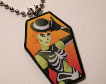 Acrylic Corpsettes Necklace - Halloween Hotties - Decayla
