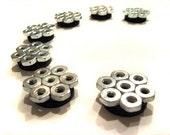 Industrial Interlocking Hex Nut Magnets (7 magnets)