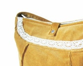Soma -Gold yellow romantic corduroy bag RESERVED
