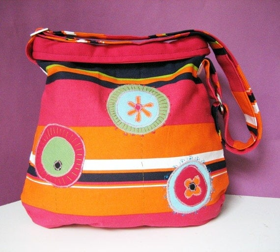 Flowers of Joy -Small shoulder bag with adjustable strap  -FREE SHIPPING-