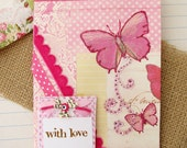 Butterfly Card Shabby Cottage Romantic Chic