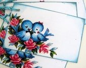 Blue Birds of Happiness Gift Tags
