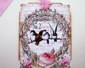 French Chic Bird Tags