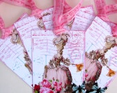 Marie Antoinette French Post Card Gift Tags