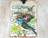 Shabby Vintage Paris Bird Gift Tags