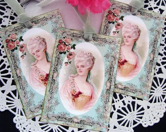 Pretty Marie Antoinette Gift Tags