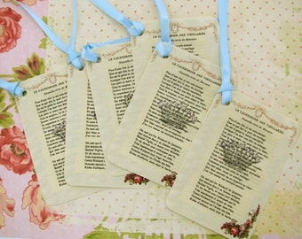 French Pages Crown Gift Tags
