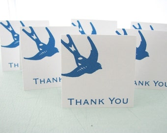 Blue Bird Mini Thank You Card Set