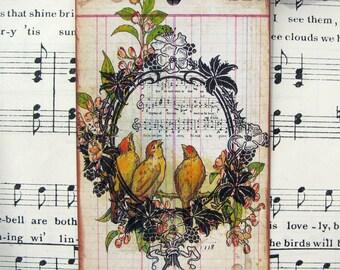 Shabby Cottage Bird Tags