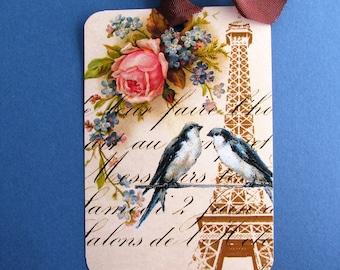 Love in Paris Eiffel Tower Gift Tags