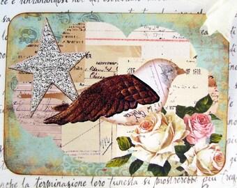 Bird Gift Tags Shabby Chic Cottage Handmade