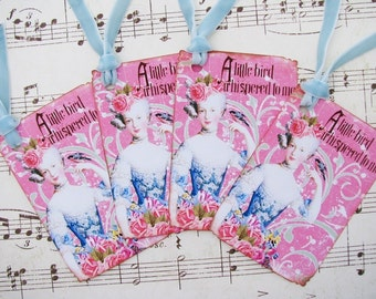 Marie Antoinette Gift Tags A Little Bird Whispered