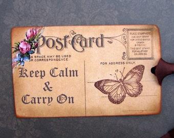 Keep Calm Carry On Postcard Gift Tags