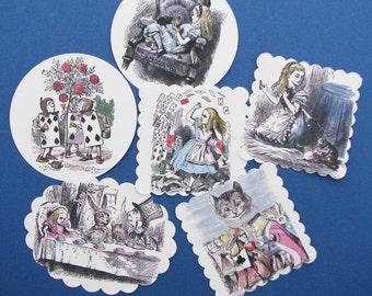 Alice in Wonderland Sticker Tag Assortment