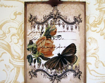 Shabby Vintage French Butterfly Gift Tags