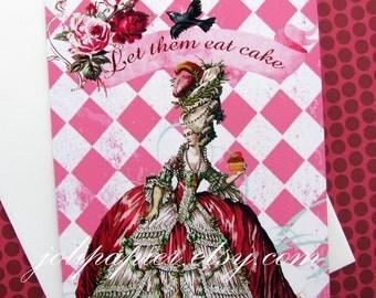 Marie Antoinette Let Them Eat Cake Note Cards
